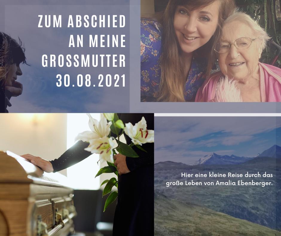 Zum Abschied an meine Großmutter