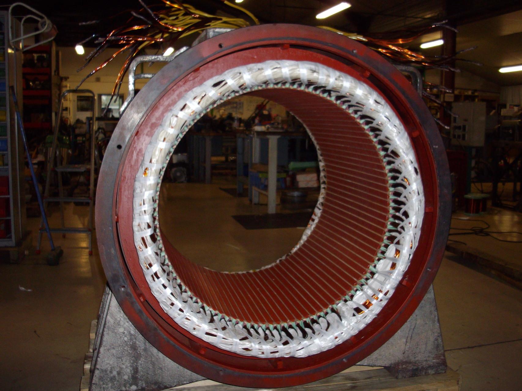 Bobinage génératrice 480 kW