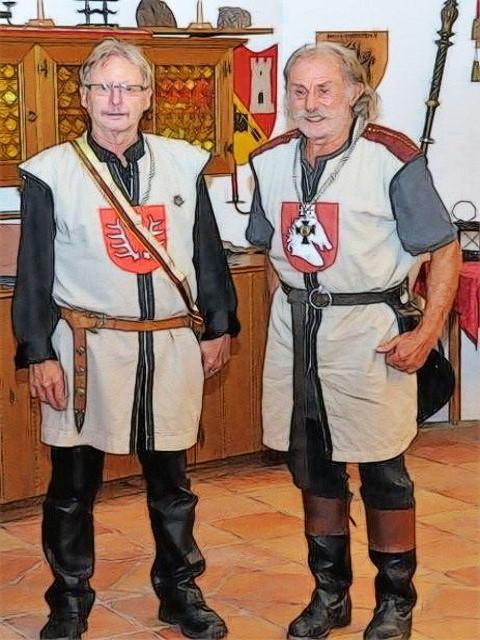 Die treuen Freunde von den Freien Rittern zue Waxenberg, Großmeister Friedericus von Gera und der wohledle Ritter Karl der Eiseren von Sagetsstein
