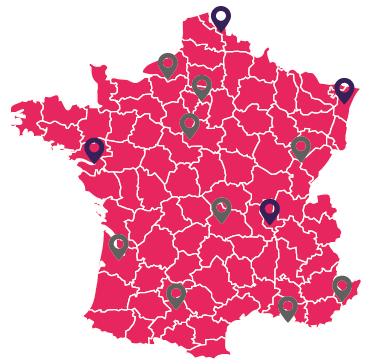 13 métropoles françaises ou Euradio veut se lancer en DAB+