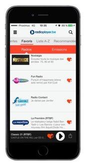 Radioplayer.be, l'appli sur smartphone