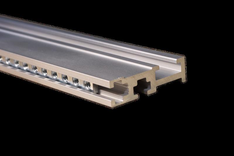 LOW PROFILE SILVER 104HP Lightweight Eurorack Rail