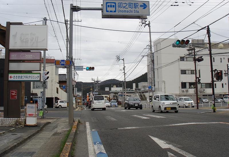 JR卯之町駅前交差点