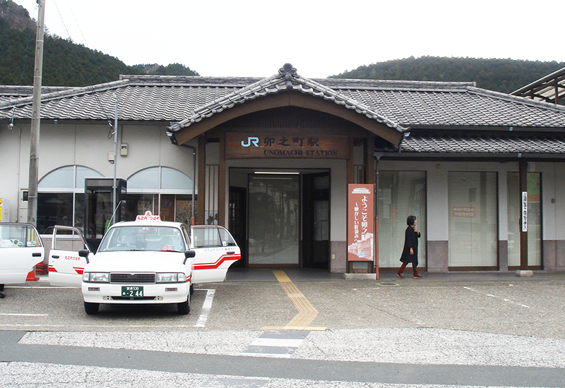 JR卯之町駅到着