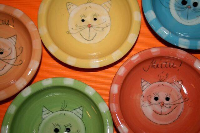 Katzenfutterschalen - auch mit Katzenname möglich!