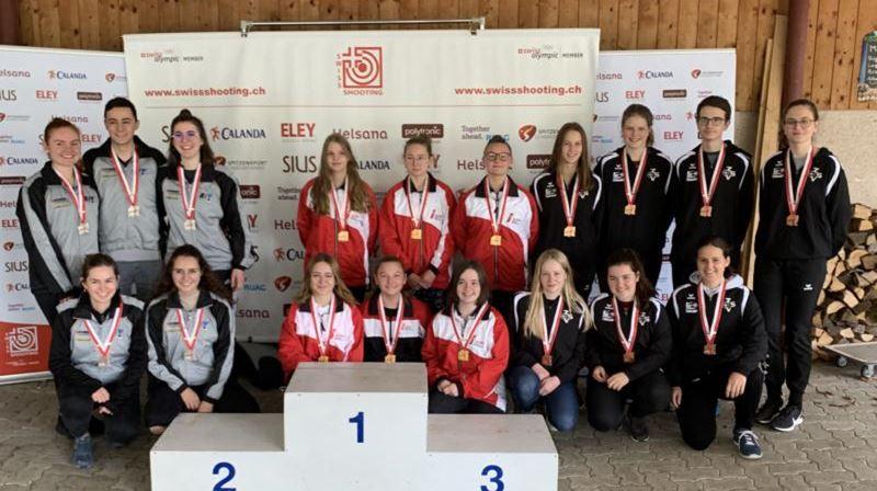 Verbandsmatch Junioren 2020, Schwadernau, 2. Rang mit Chris und Annina