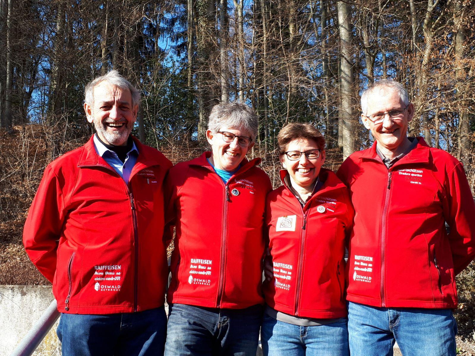Wetswil Final - unsere Vereinsteilnehmer Guido, Placi, Yvonne und Corsin D.