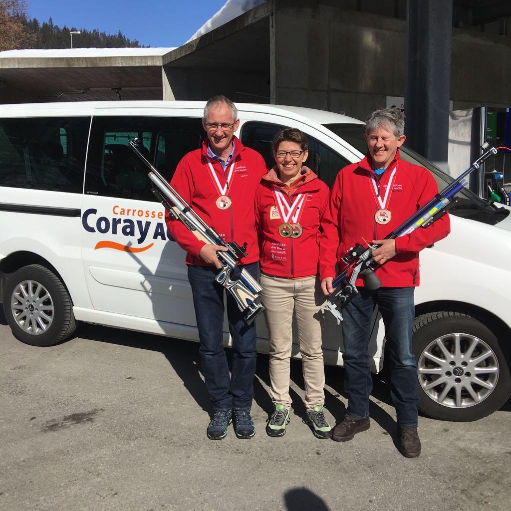 3. Rang Gruppe (Corsin D., Yv, Placi) - Schweizermeisterschaft Bern