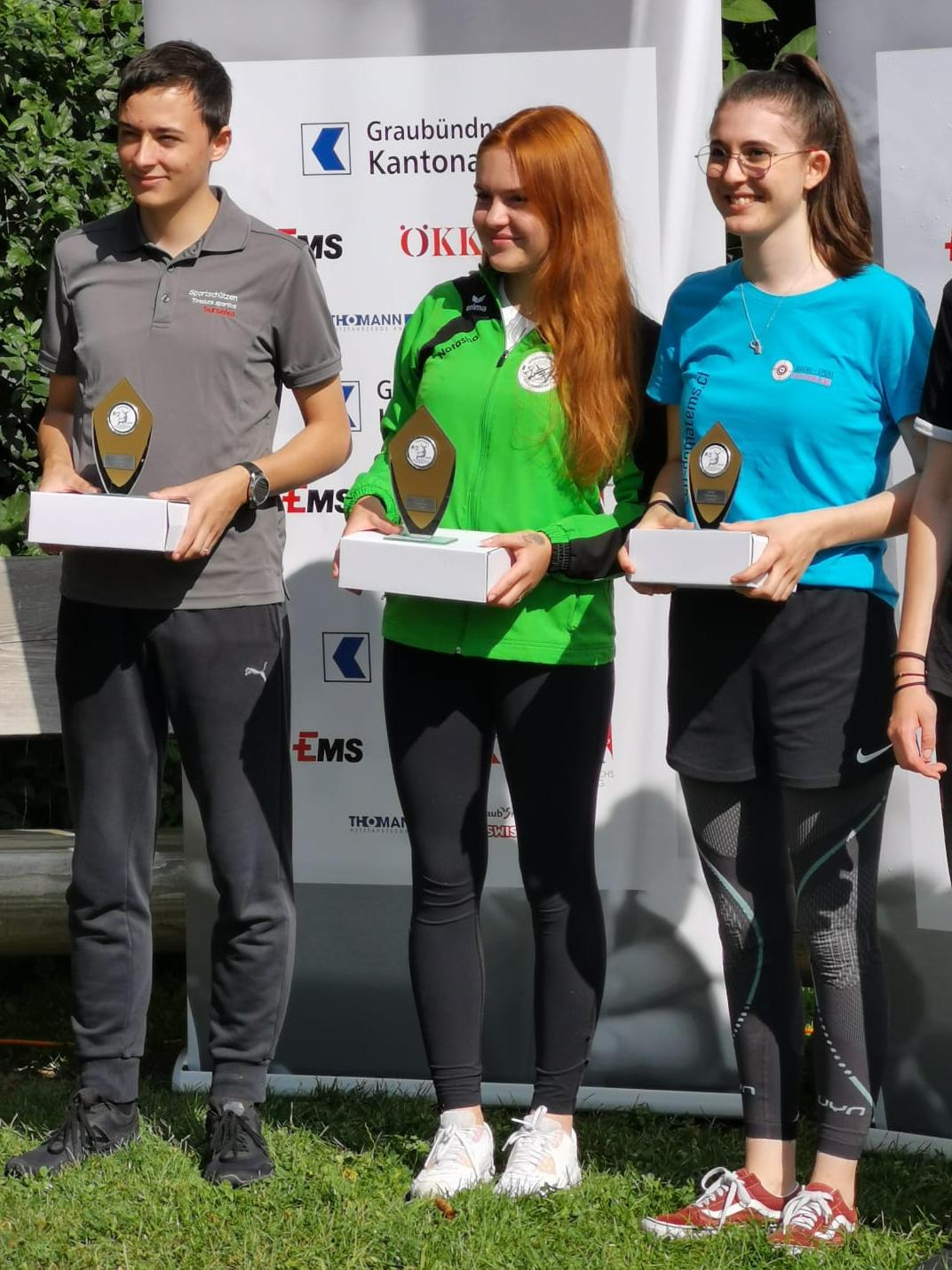 Bündner Jugendtag 2020 50m 3-Stellung 2. Rang Chris 1. R. NataschaB.  und 3.R. Enrica C.