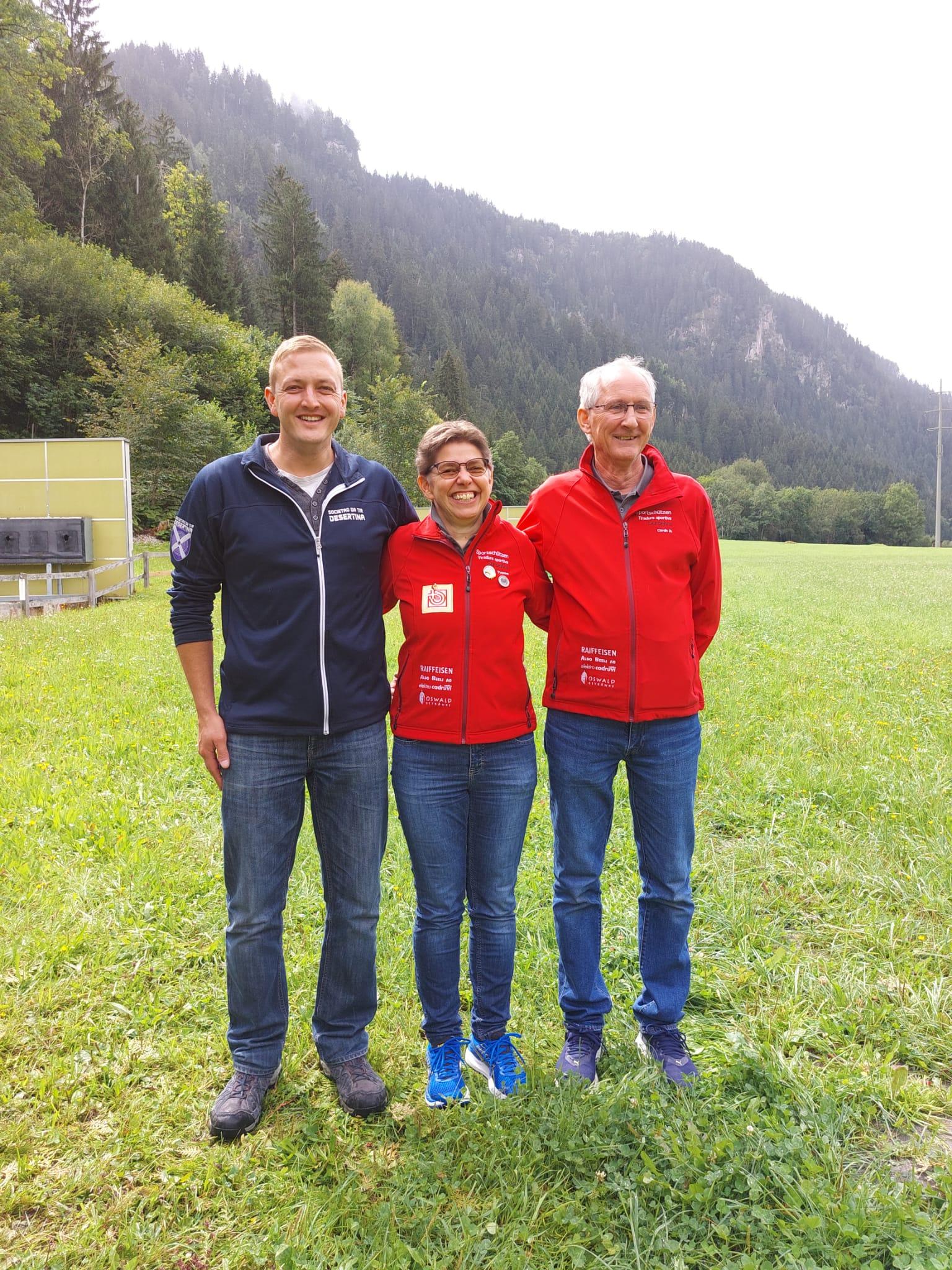 Bezirksmatch Final 2. Flurin Wetzel * 1. Yvonne * 3. Corsin D.