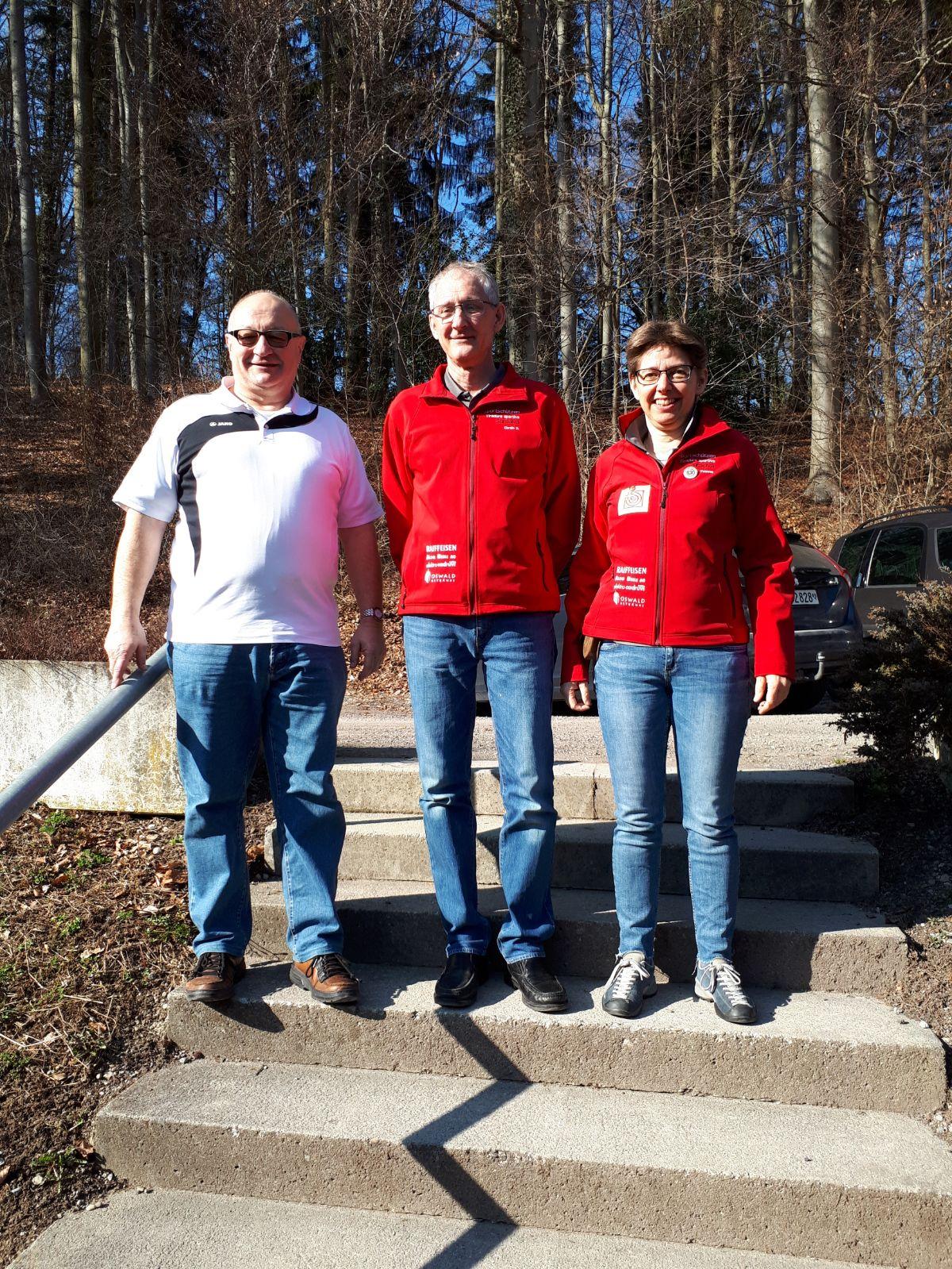 Wetswil Final - Corsin D. unser Sieger, links Heinz Hug 2. Rang und Yvonne