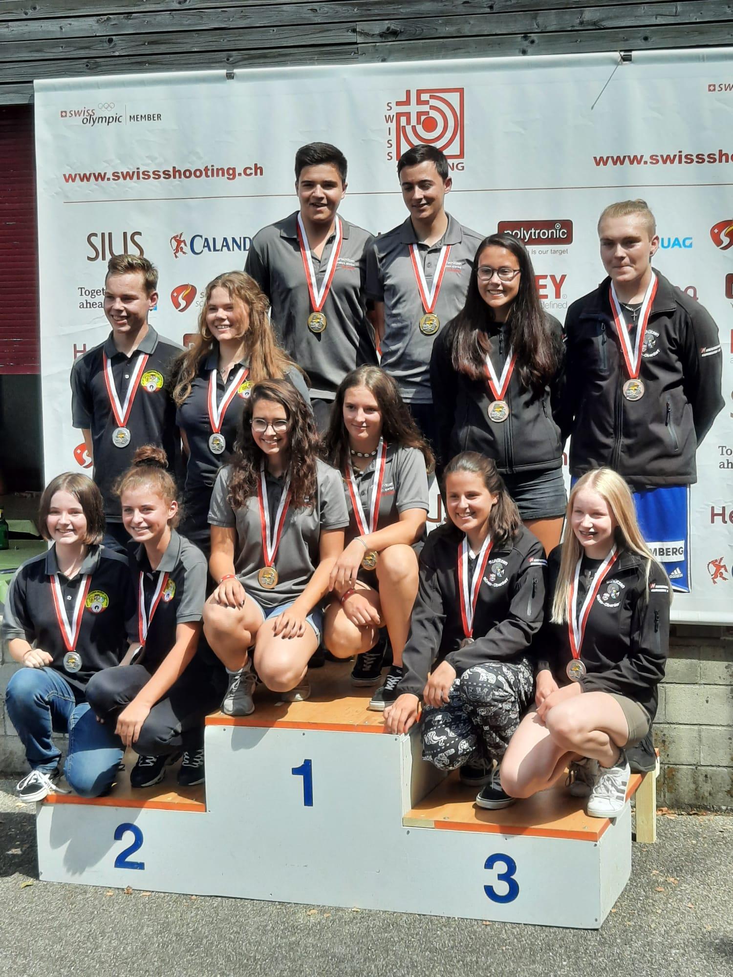 SGM Finale 2020 Schwadernau mit Sieger Tino * Chris * Annina * Anja vor Winistorf und Büren-Oberdorf