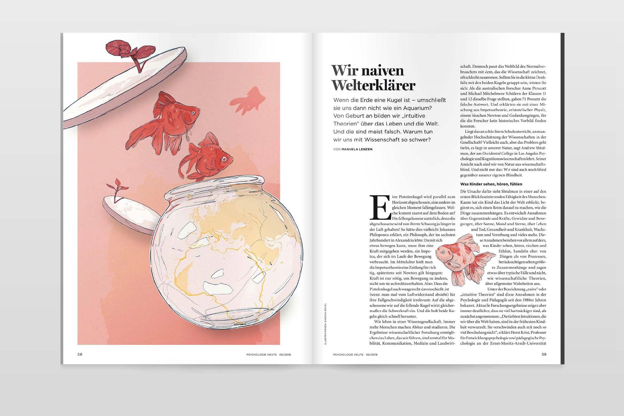 Sascha Düvel Illustration - Editorial für Psychologie Heute