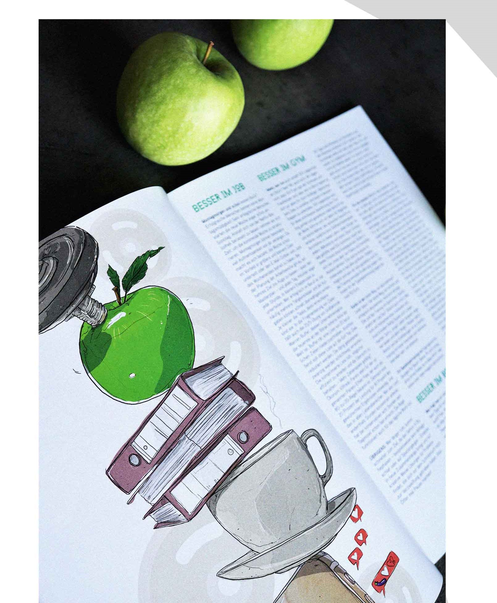 Sascha Düvel Illustration - Editorial Illustraton für mate Magazin