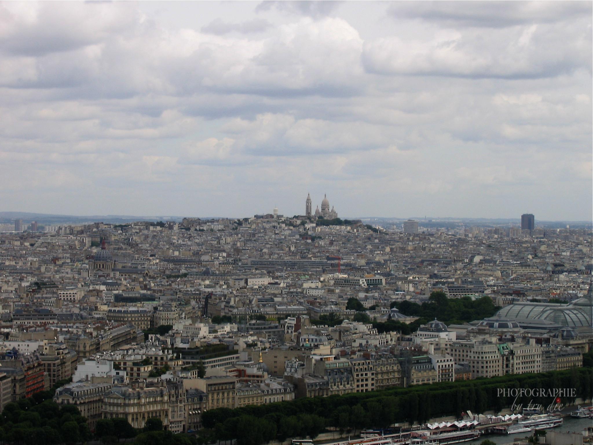 Bild: Ausblick vom Eiffelturm Paris