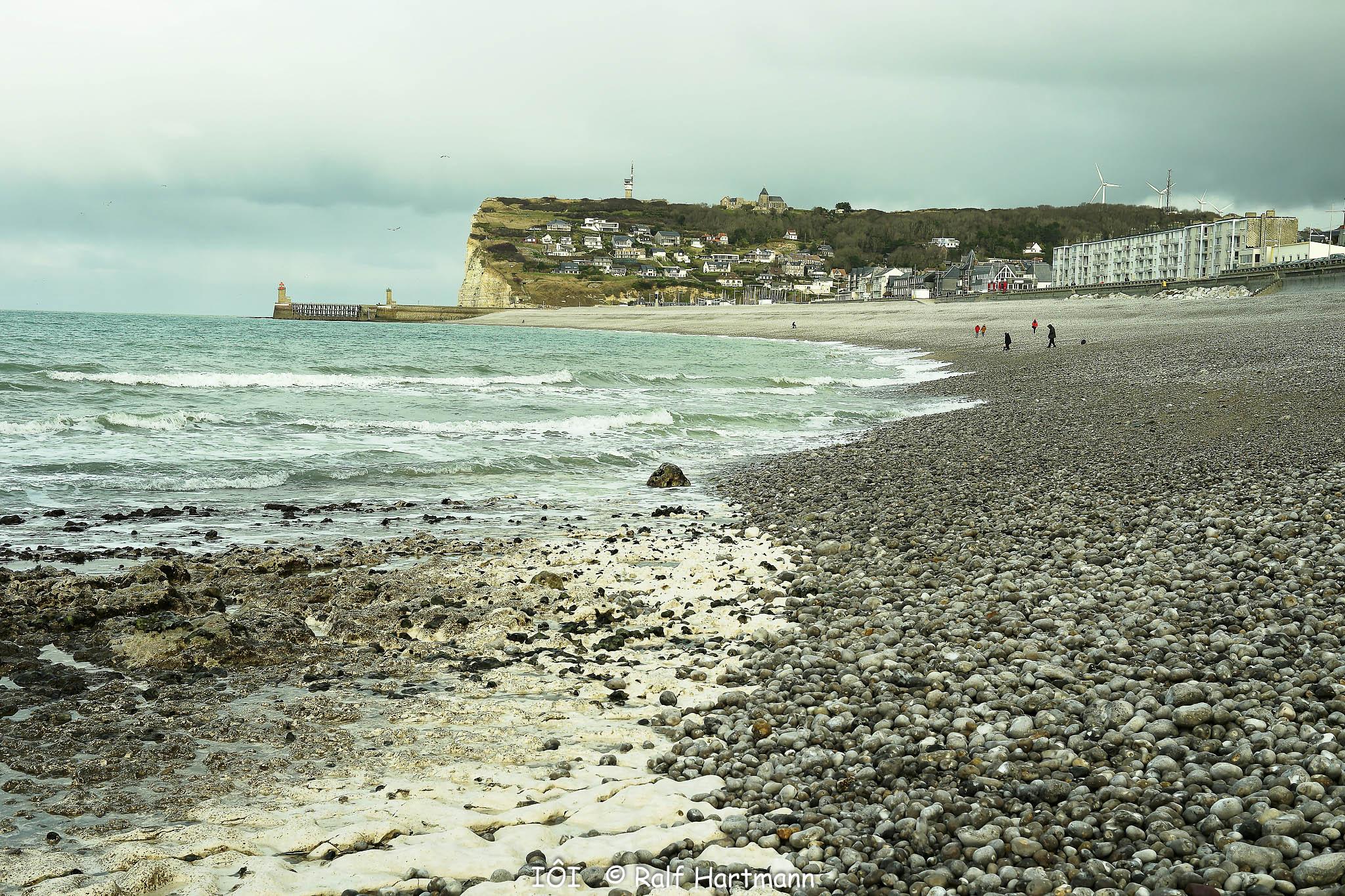 Bild: am Strand von Fécamp