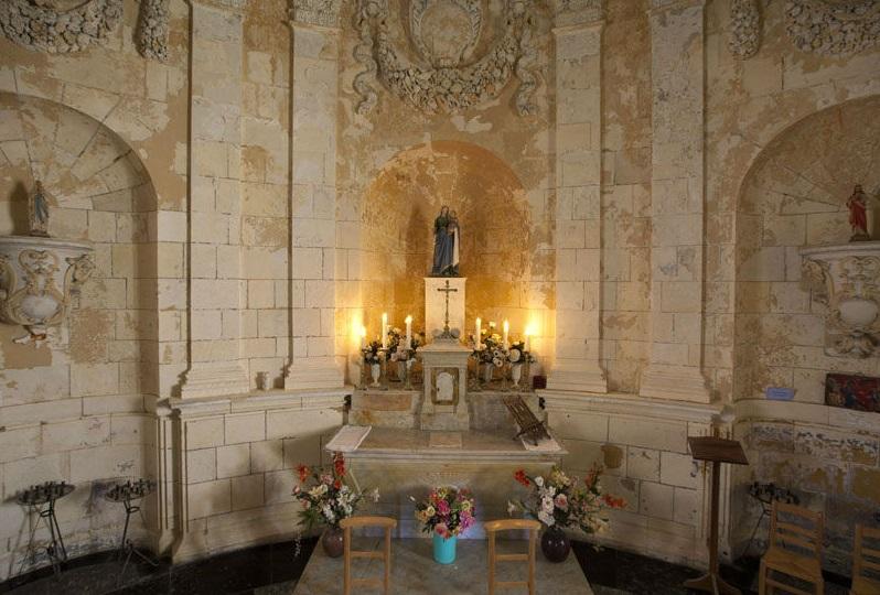 Bild: Kapelle im Phare du Cordouan