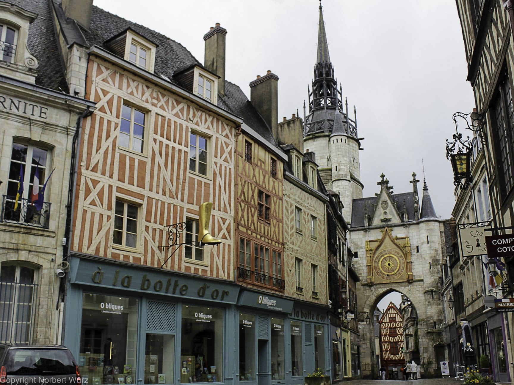 In der Altstadt von Auxerre