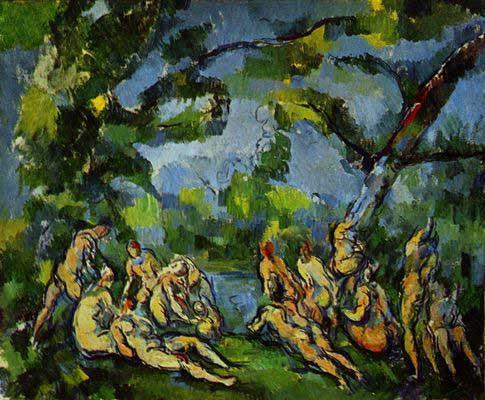 Bild: die Badenden, les Baigneuses von Paul Cézanne