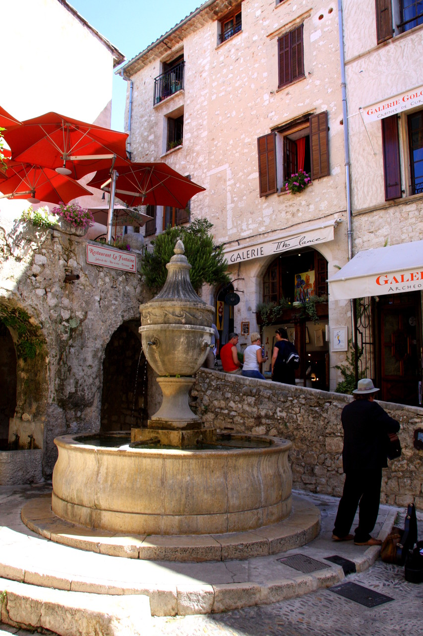 Bild: Fontaine in St. Paul de Vence