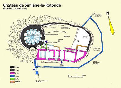 Bild: Plan des Château de Simiane-la-Rotonde