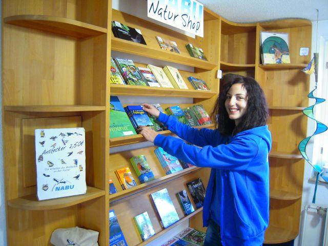Besucherbetreuung im Naturschutzzentrums (Bild: Kerstin Wernicke)
