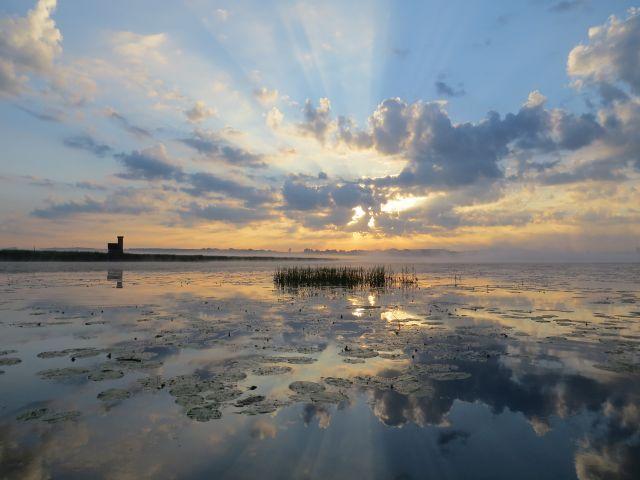 Morgenstimmung auf dem See (Bild: NABU/Jost Einstein)