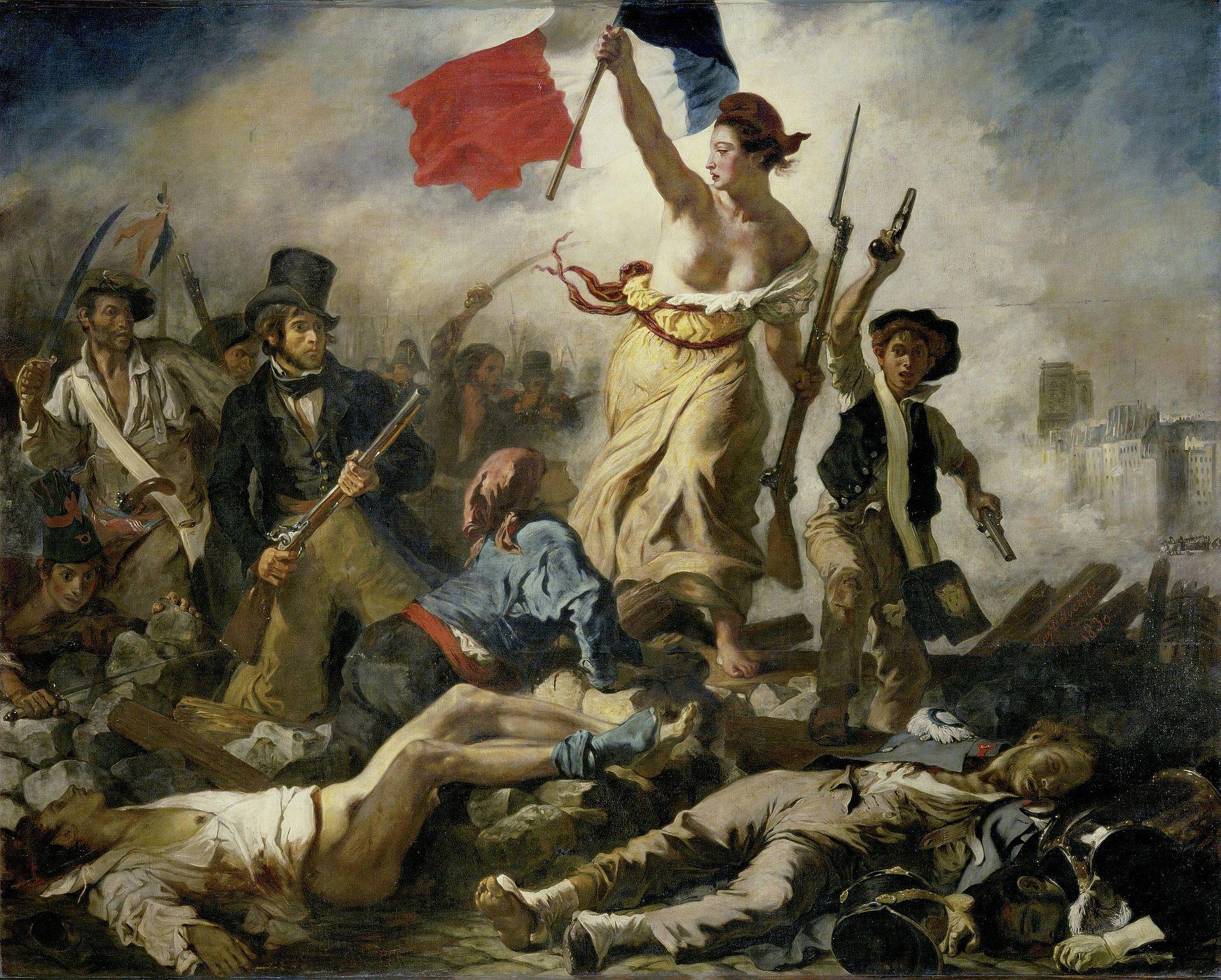 DELACROIX, La liberté guidant le peuple, 1830, huile sur toile