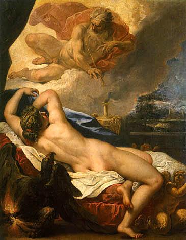 """RICCI, """"Jupiter et Sémélé"""", peinture (1695)"""