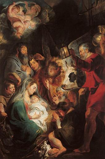 L'adoration des bergers de Jacob JORDAENS (1617)