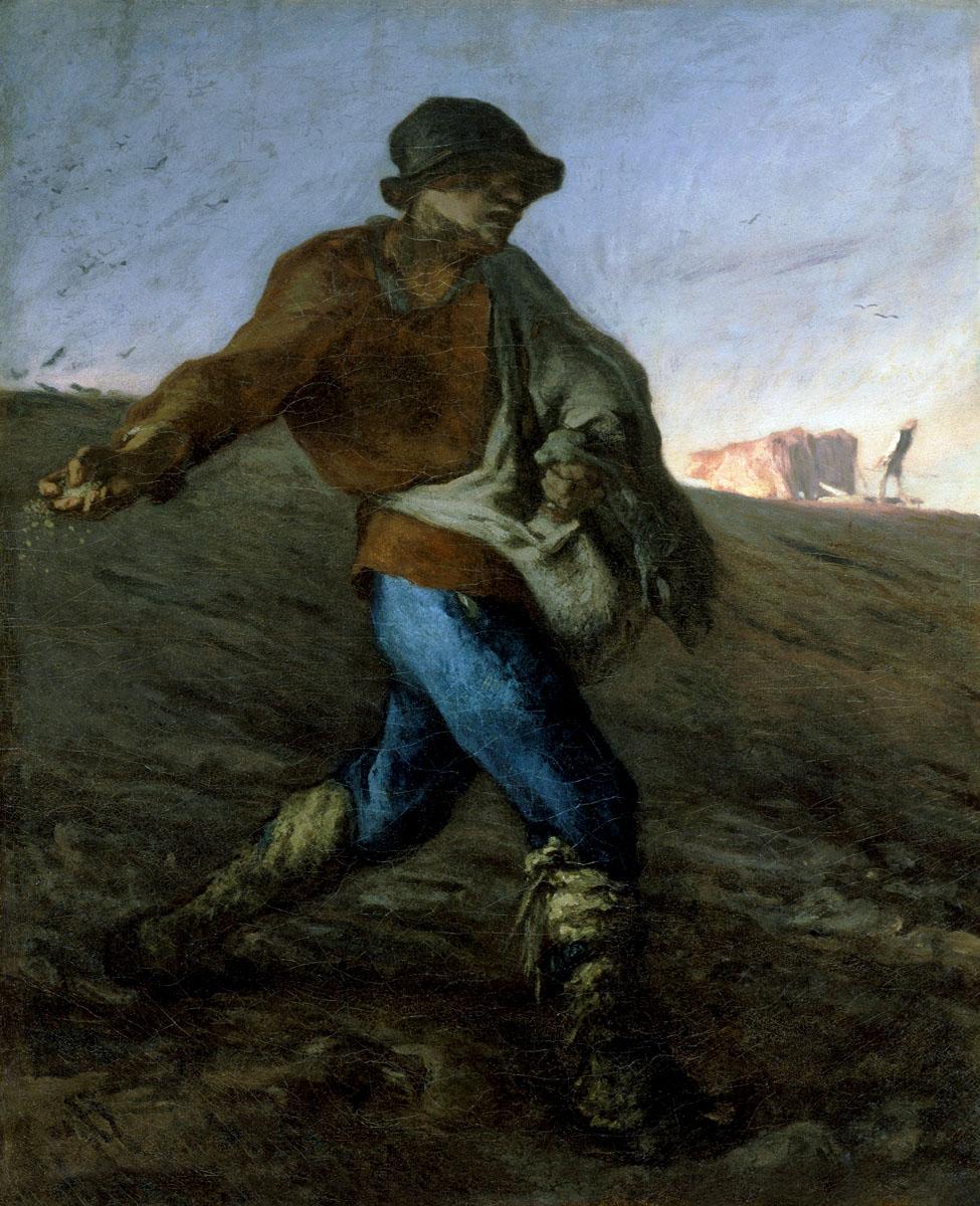 """Millet, """"Le Semeur"""" (1865), huile sur toile"""