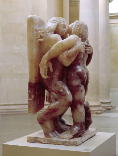 """""""Jacob et l'Ange"""", Jacob Epstein (1940) - Sculpture d'albâtre"""