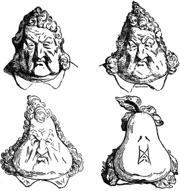 DAUMIER, La métamorphose du roi Louis-Philippe en poire, 1834, lithographie