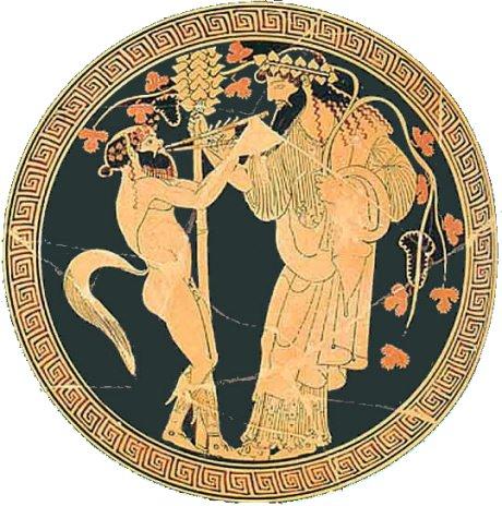 Dionysos et un satyre