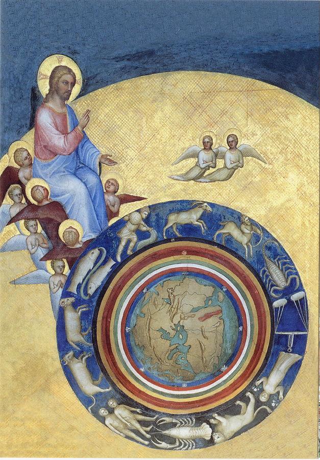 """""""La création du monde"""", Giusti de Menabuoi, fresque du Baptistère de Padoue (1376-1378)"""