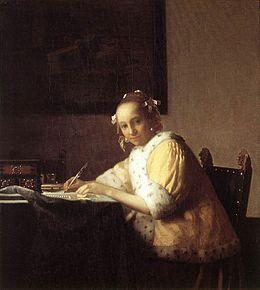 La Jeune Femme écrivant une lettre (1665)