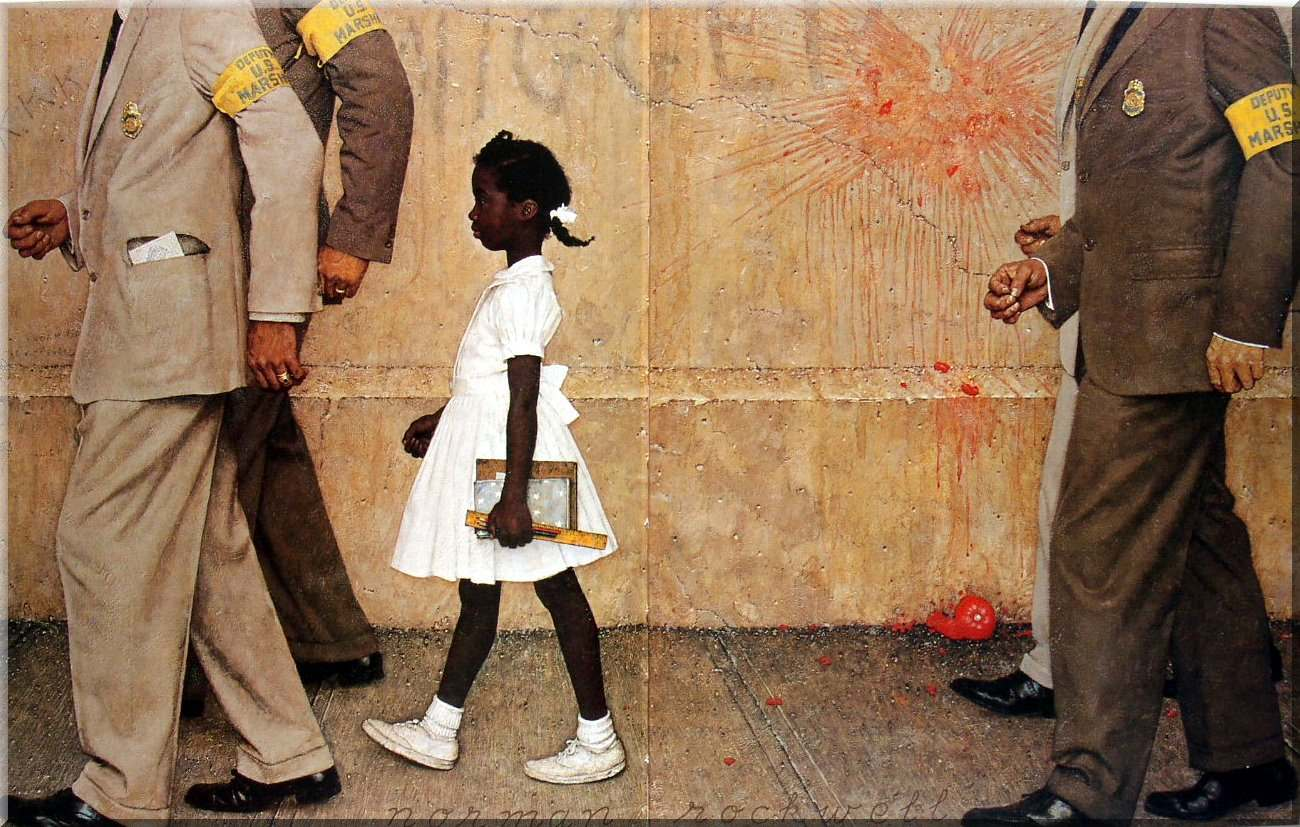 Norman ROCKWELL, The problem we all live with, 1964