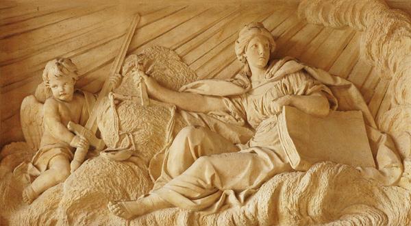Sculpture de René-Michel Slotdz, XVIII°s, église Saint-Sulpice, Paris