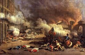 Prise des Tuileries, cour du Carrousel - Huile sur toile de Jacques Bertaux