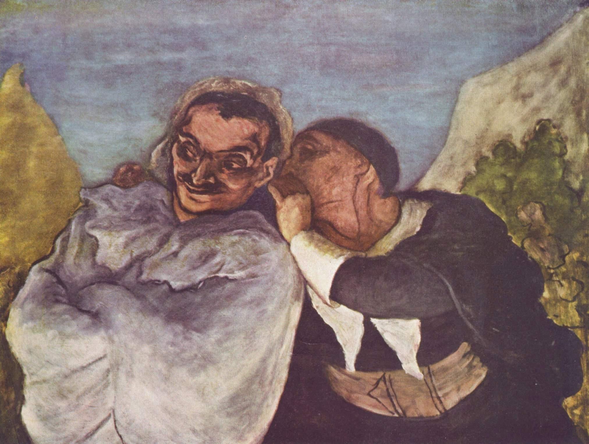 Honoré DAUMIER, Crispin et Scapin, vers 1860, huile sur toile  (61x82 cm)