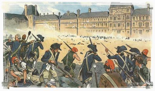 Prise des Tuileries, cour du Carrousel