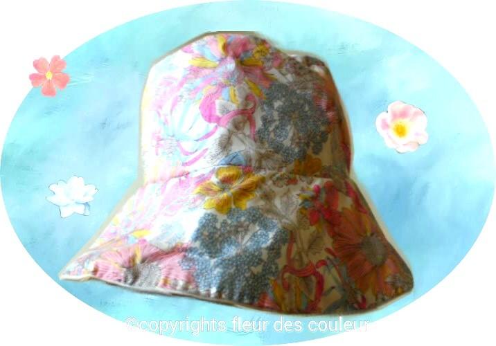 エレガントなリバティプリントの花柄にシックなベージュのネルの内布を合わせました、夏でも使えます。