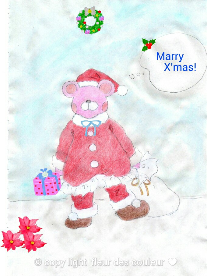 いちごのクリスマスの作戦です。