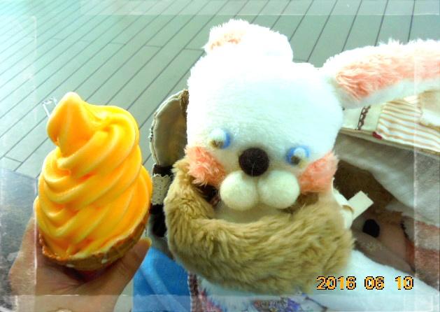 夏蜜柑のソフトクリームも好きです♡