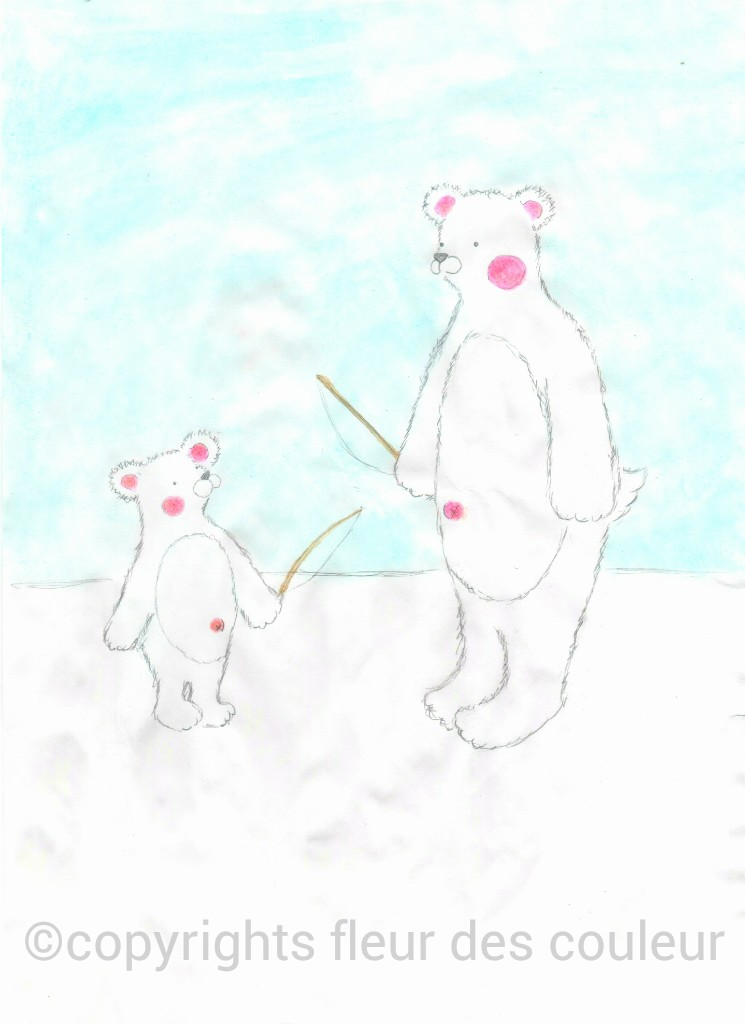 *今回は大きな白熊と小さな白熊のお話です。