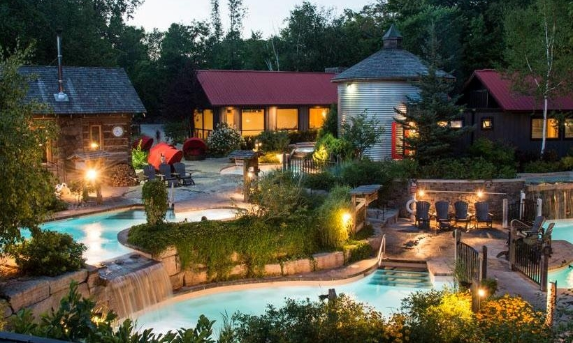 A perfect summer's eve at Scandinave Spa Blue Mountain