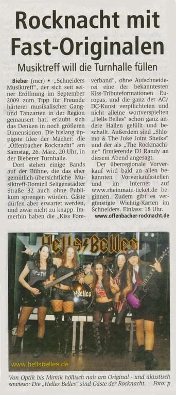 Offenbach Post, 5. Januar 2011