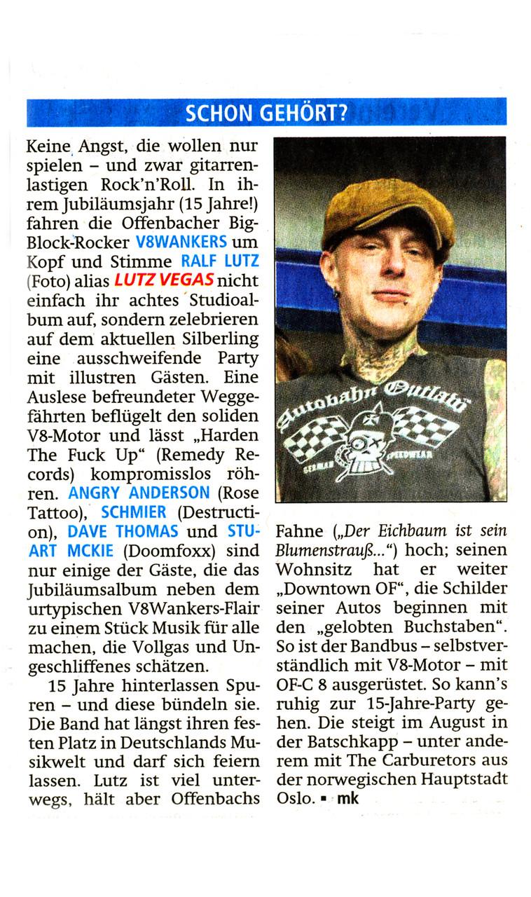 Offenbach Post, 20. Mai 2015