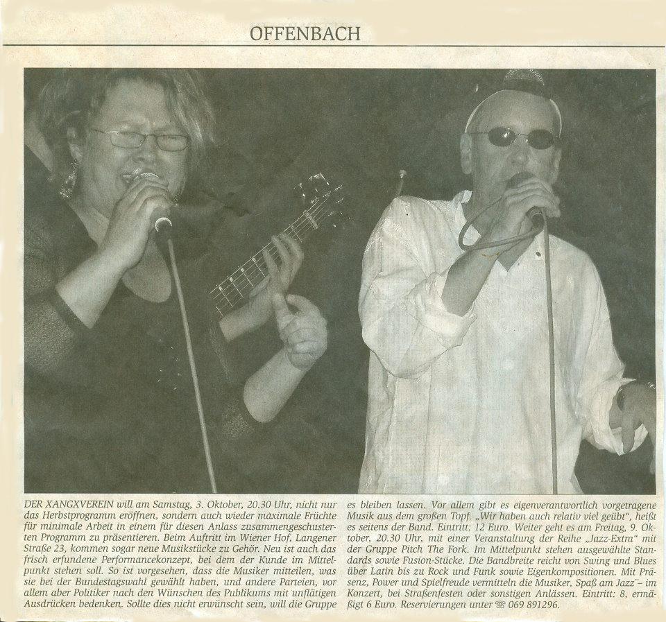 Offenbach Post, 1. Oktober 2009