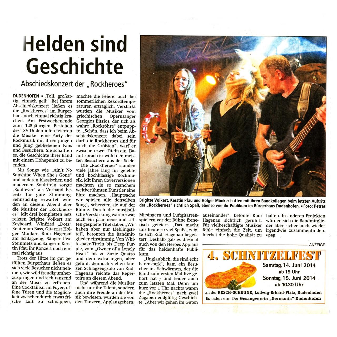 Offenbach Post, 11. Juni 2014
